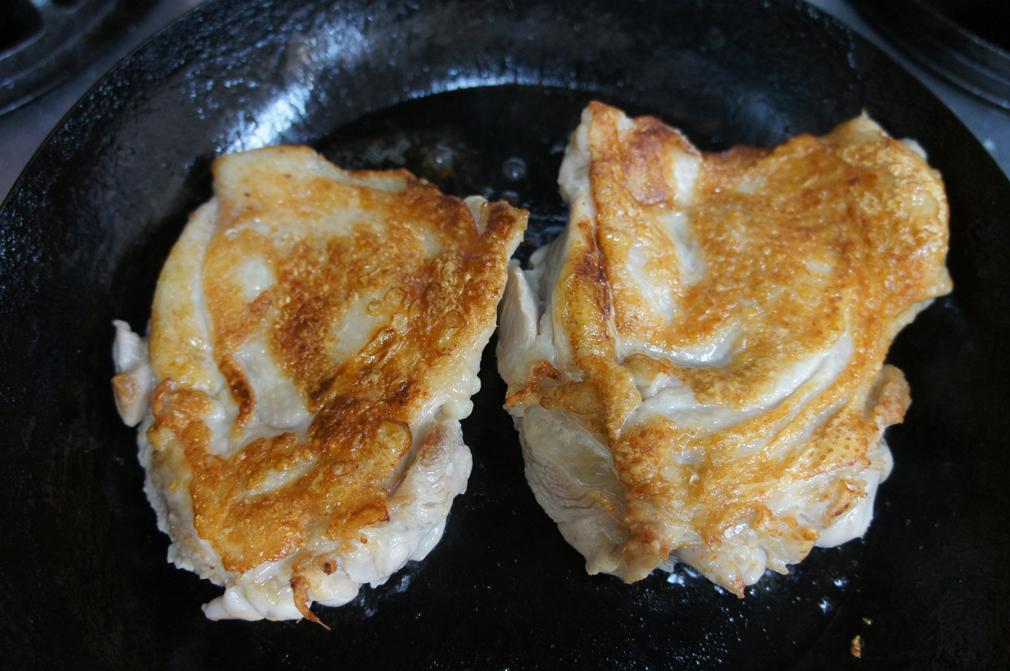 鶏もも肉の梅ジャム煮